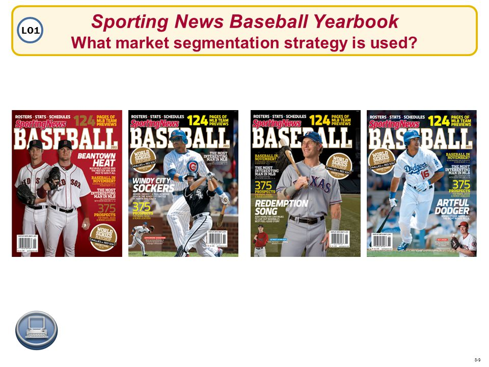 Sporting News Baseball Yearbook What market segmentation strategy is used