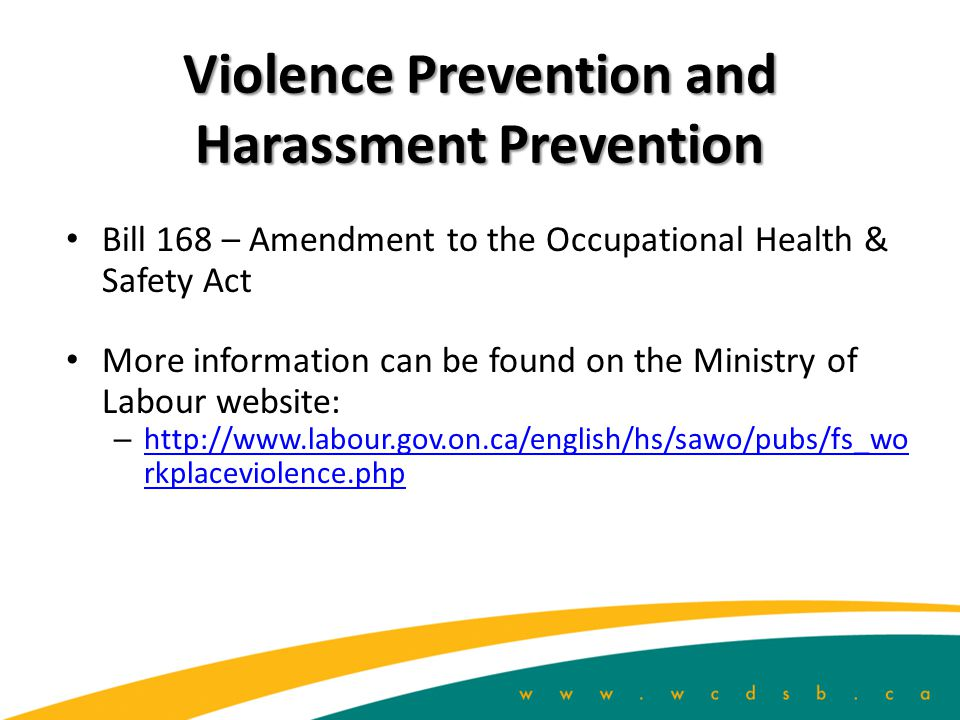 Violence Prevention and Harassment Prevention