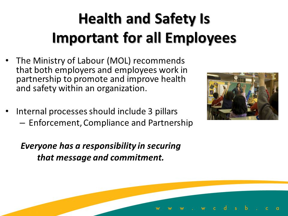 Health and Safety Is Important for all Employees