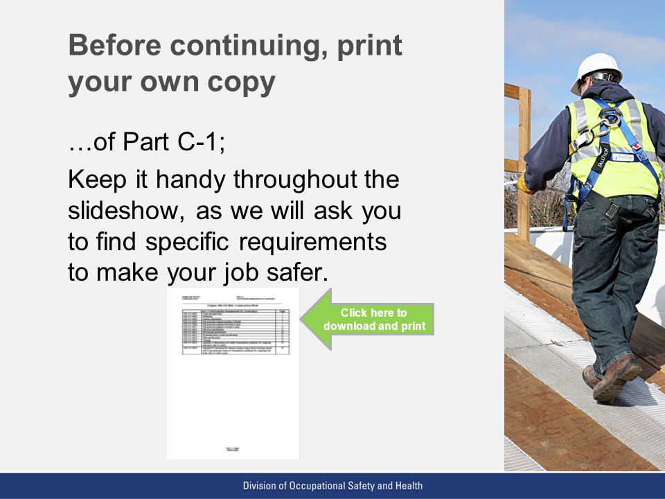 Before continuing, print your own copy
