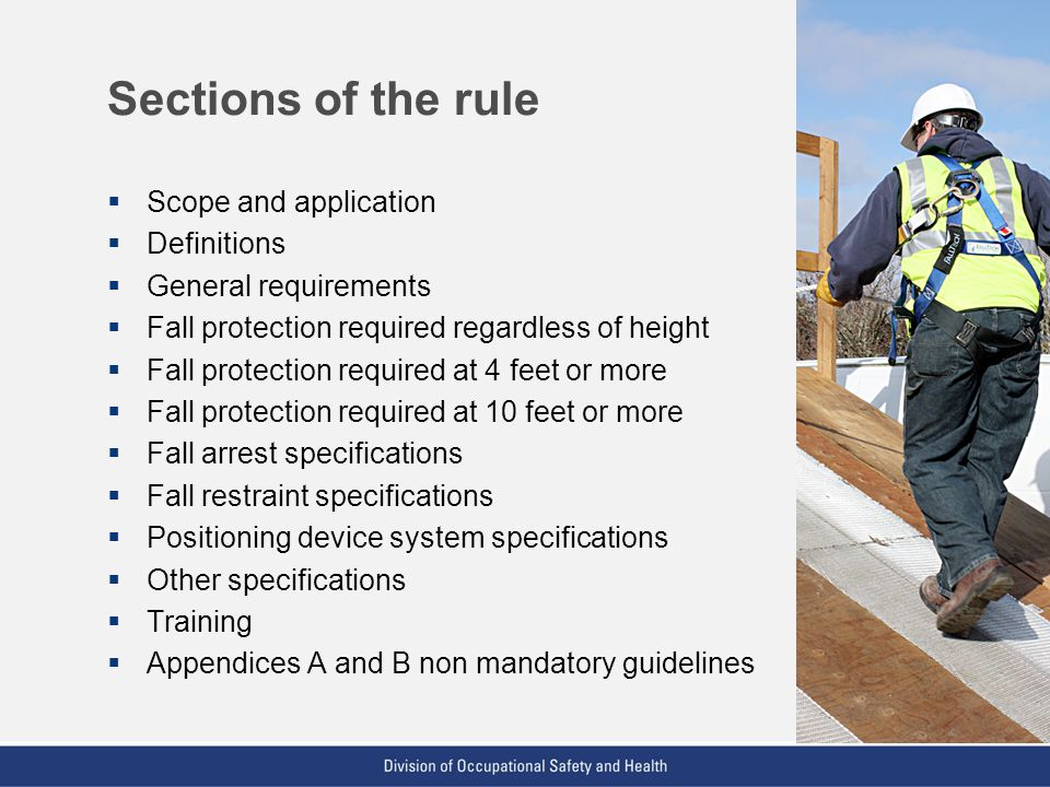 Sections of the rule Scope and application Definitions
