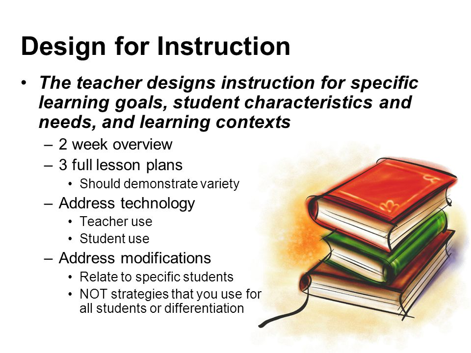Design for Instruction