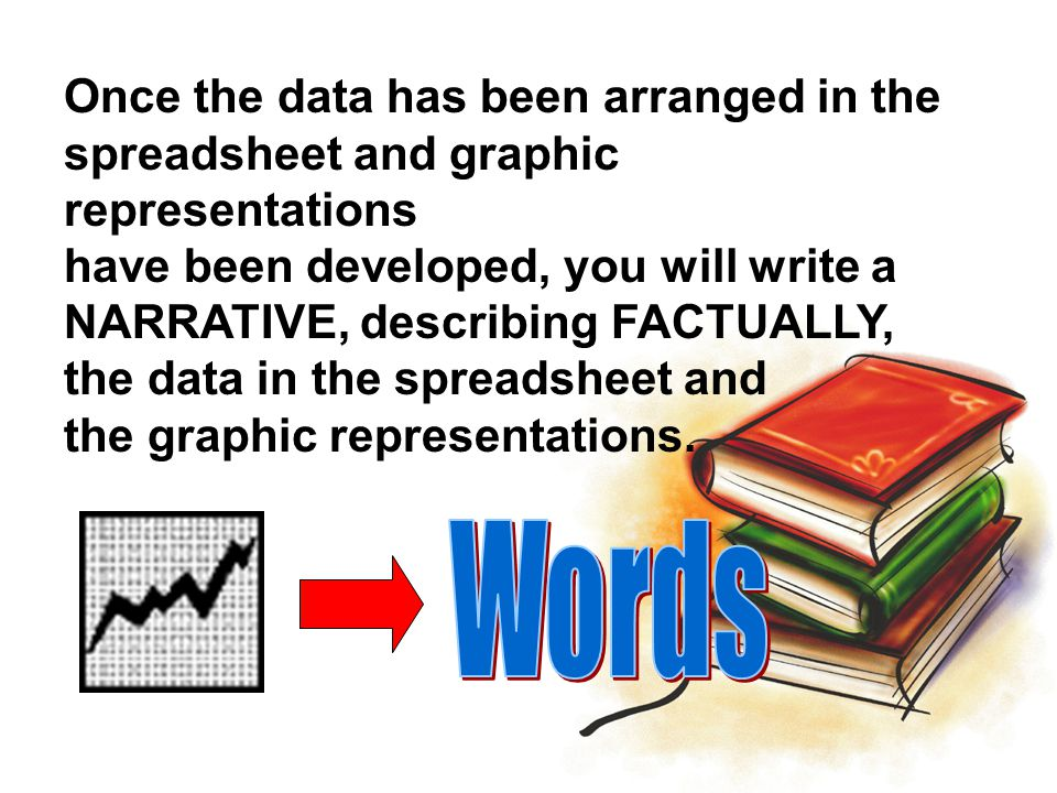Words Once the data has been arranged in the