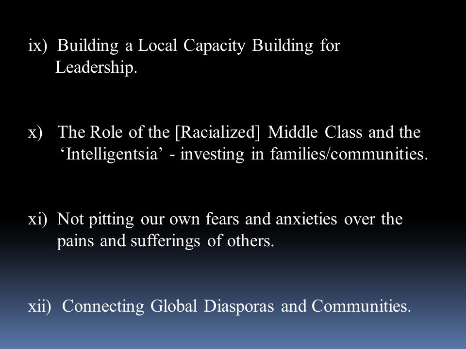 Building a Local Capacity Building for