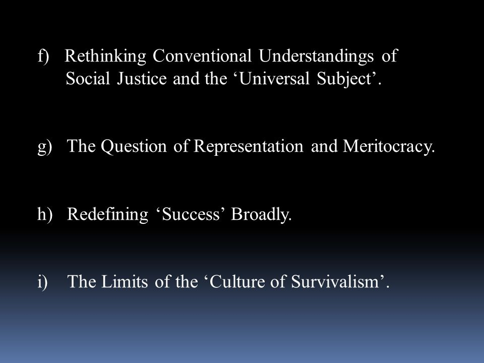 Rethinking Conventional Understandings of