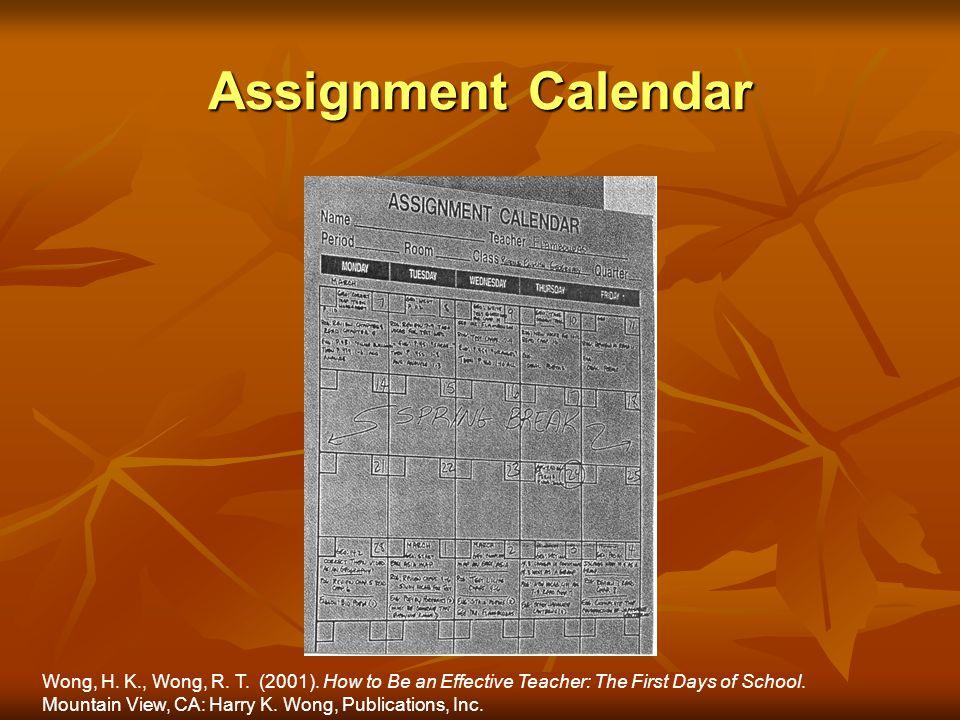 Assignment Calendar