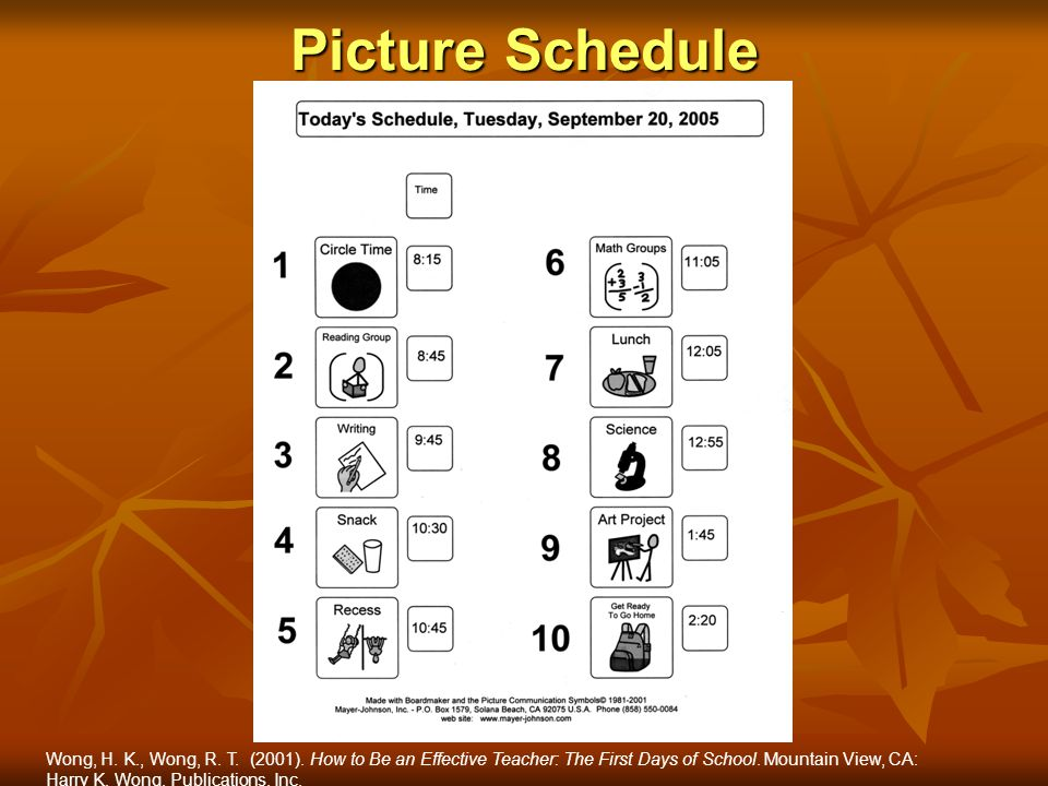 Picture Schedule