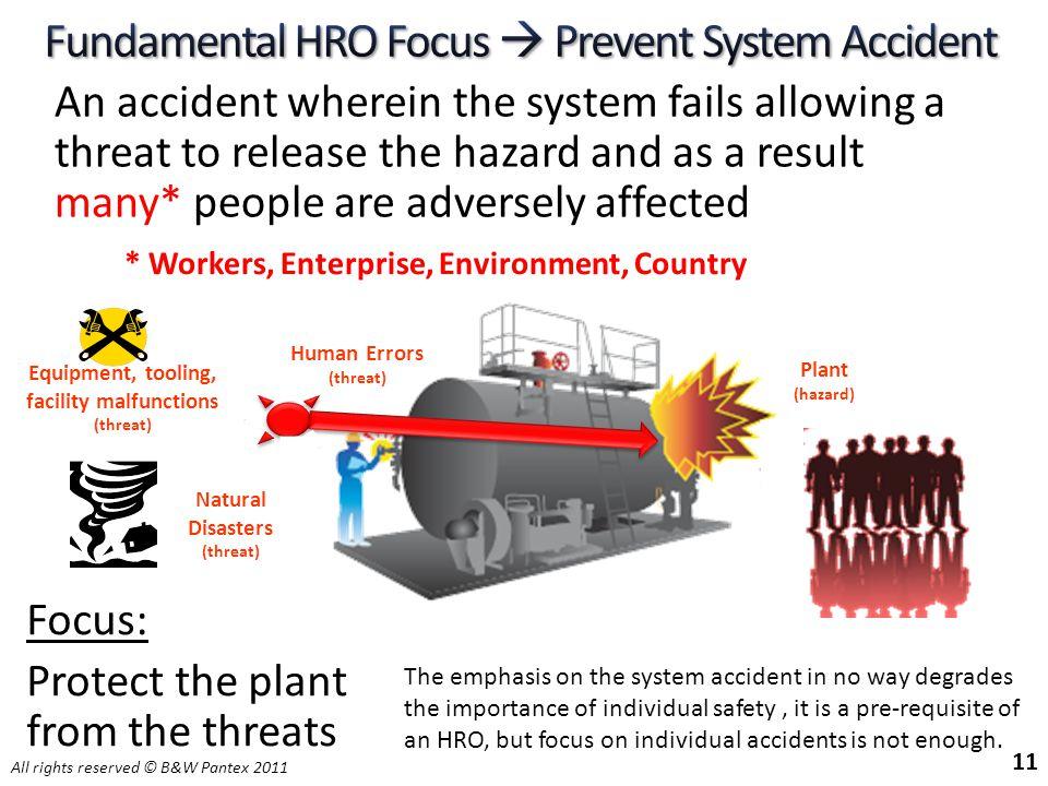 Fundamental HRO Focus  Prevent System Accident