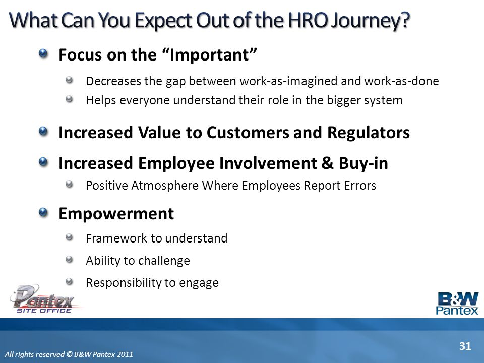 What Can You Expect Out of the HRO Journey