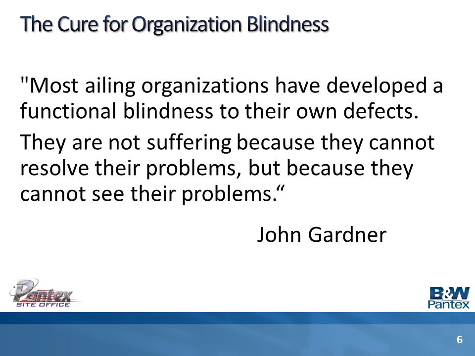 The Cure for Organization Blindness