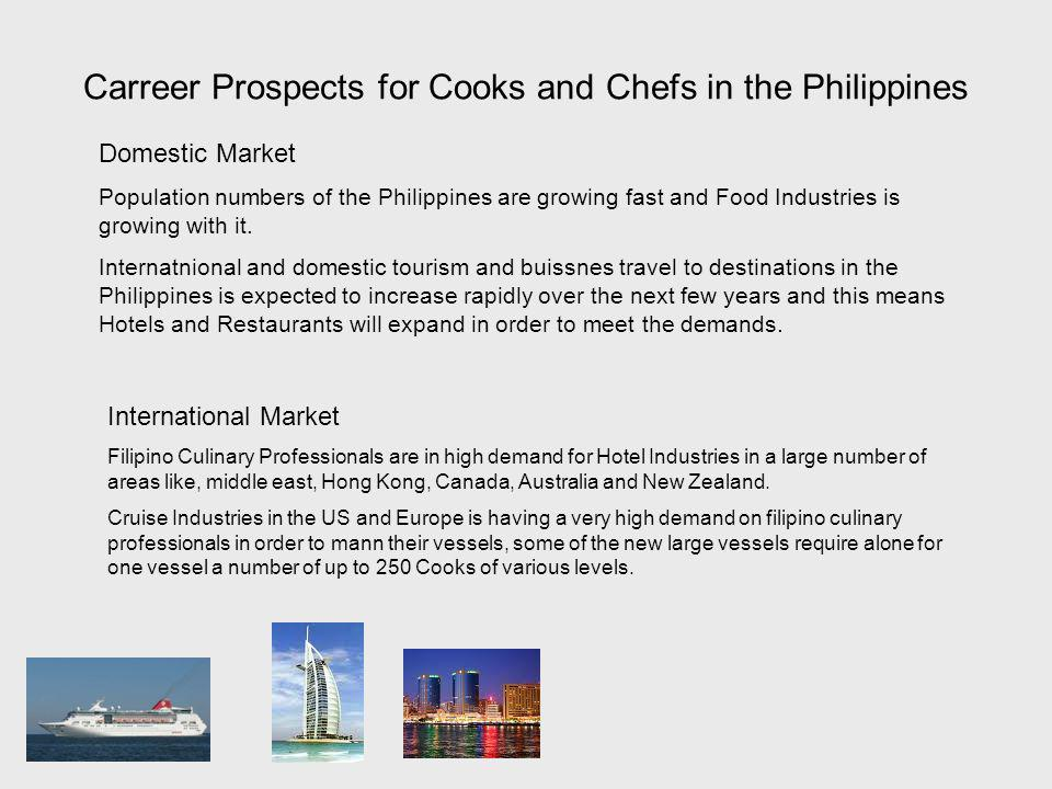 Carreer Prospects for Cooks and Chefs in the Philippines