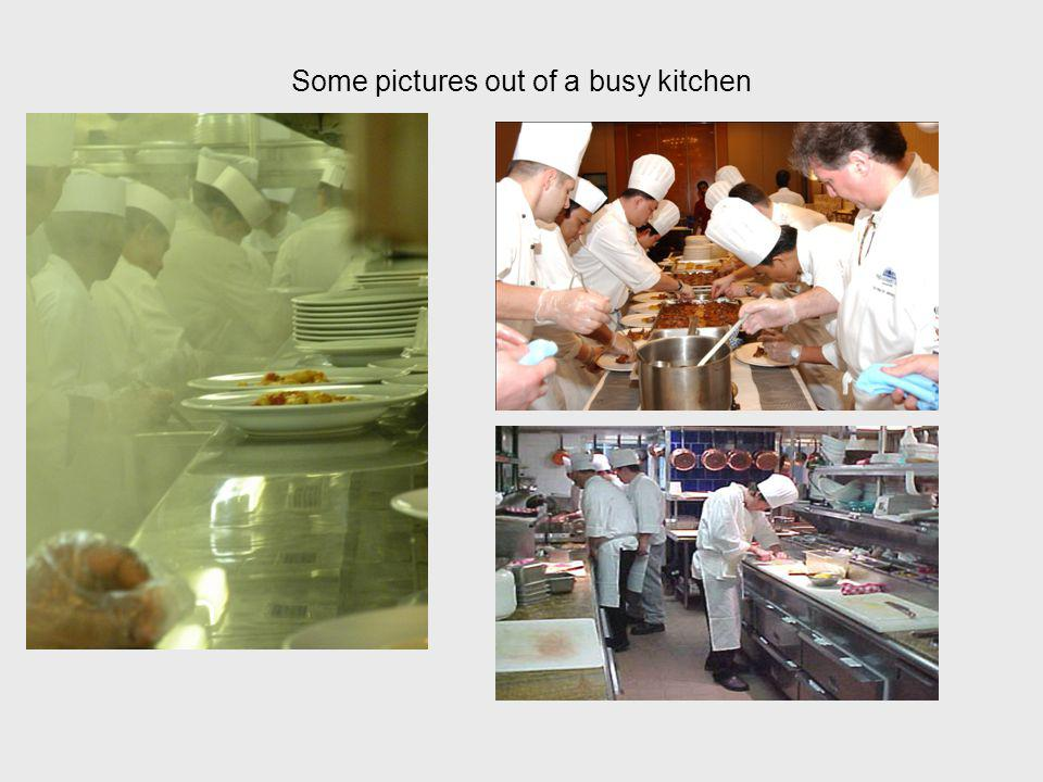 Some pictures out of a busy kitchen