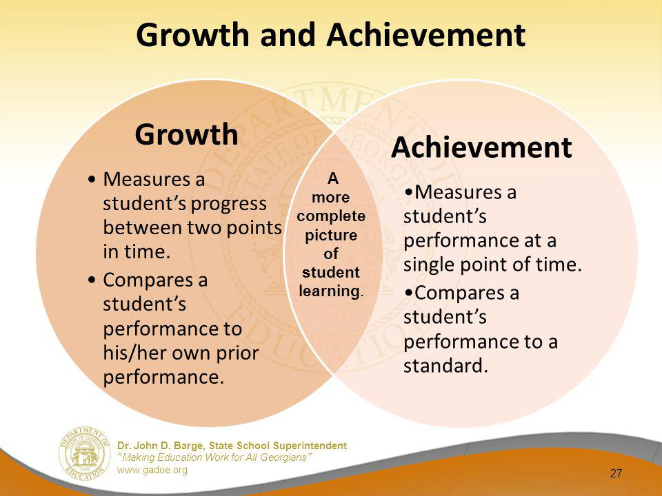 Growth and Achievement