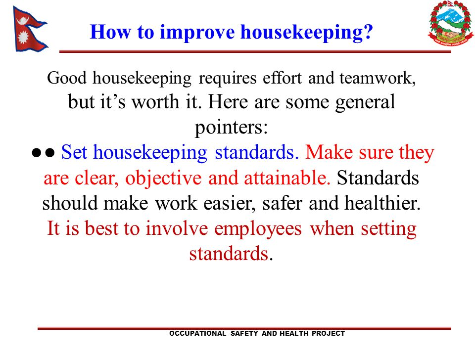 How to improve housekeeping
