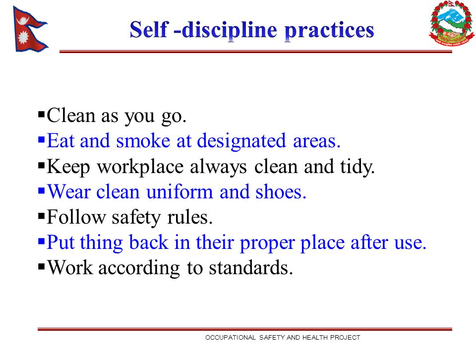 Self -discipline practices