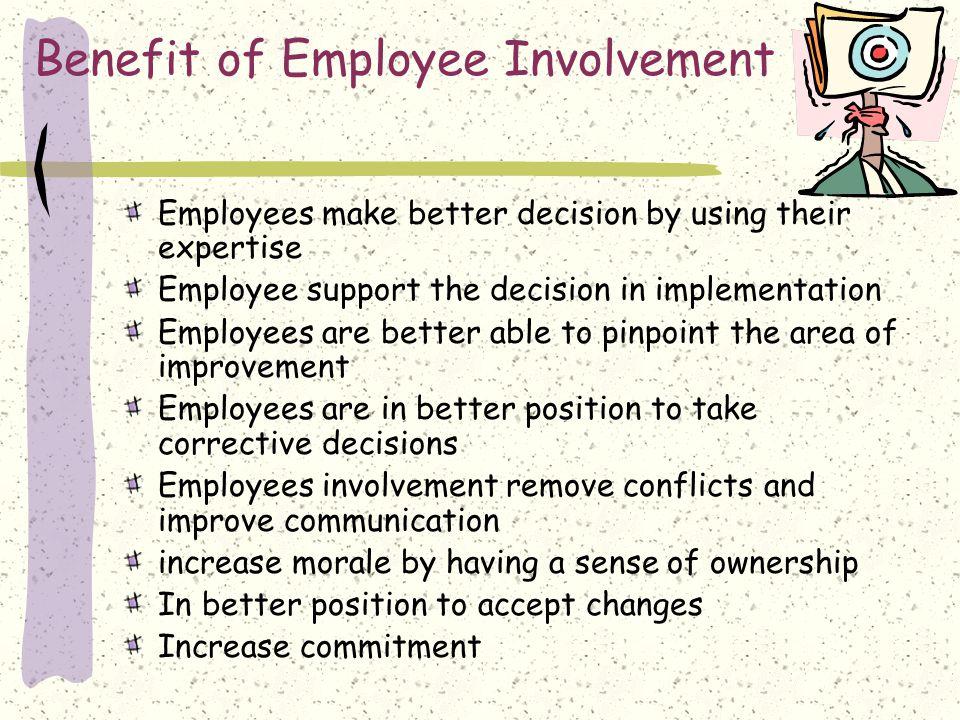 Benefit of Employee Involvement