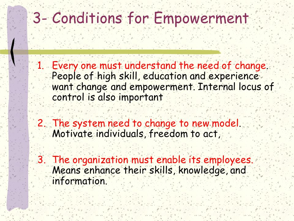 3- Conditions for Empowerment