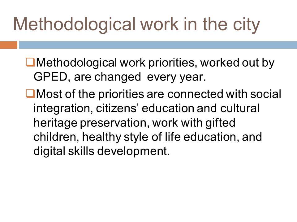 Methodological work in the city