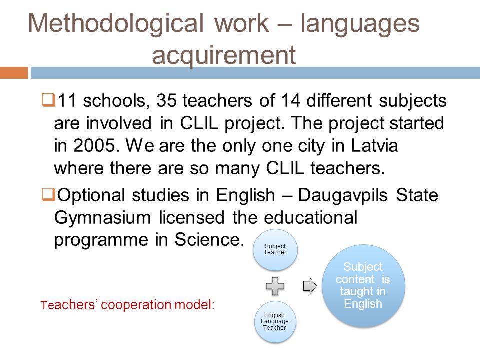Methodological work – languages acquirement