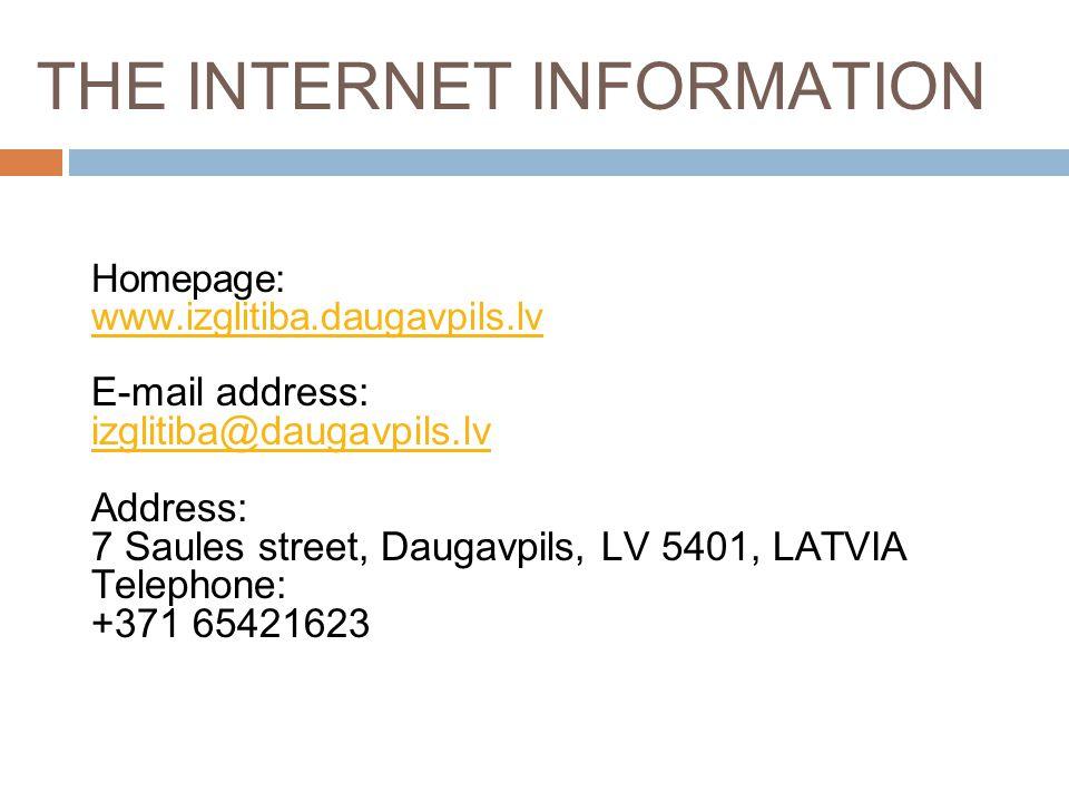 THE INTERNET INFORMATION
