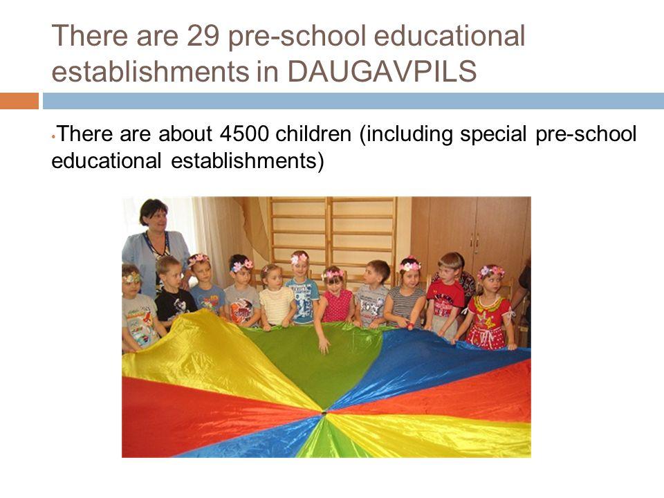 There are 29 pre-school educational establishments in DAUGAVPILS