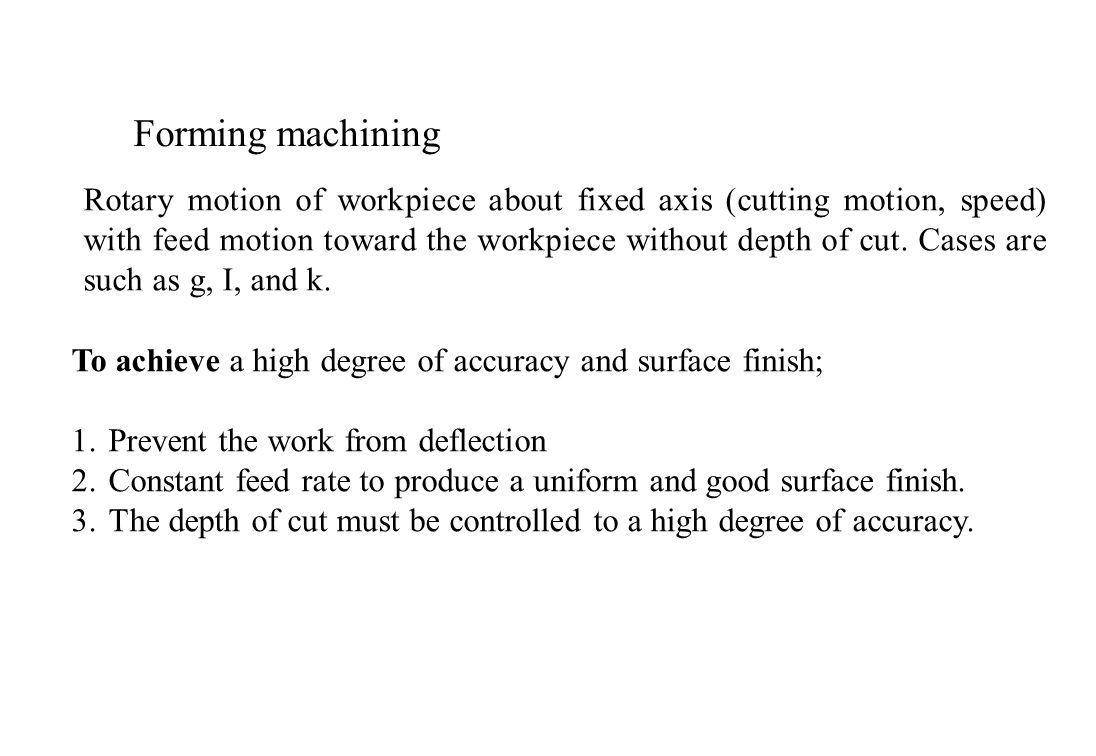 Forming machining