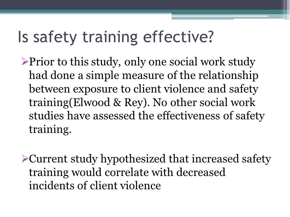 Is safety training effective