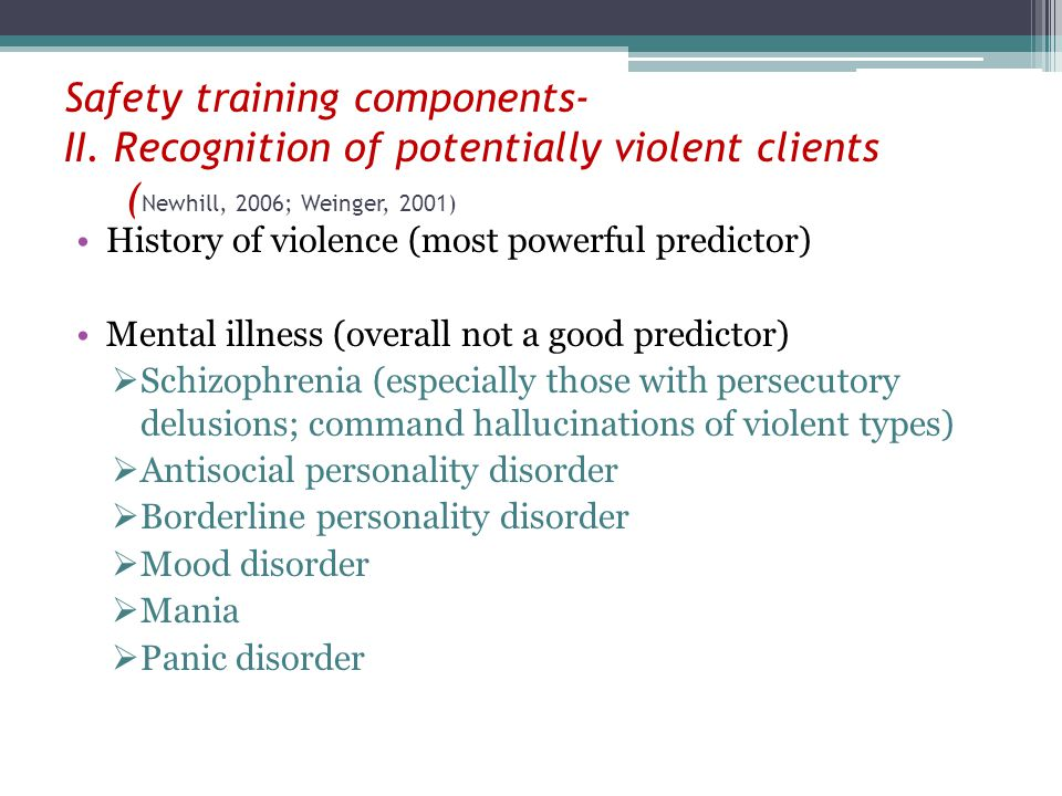 Safety training components- II