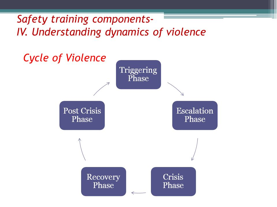 Safety training components- IV