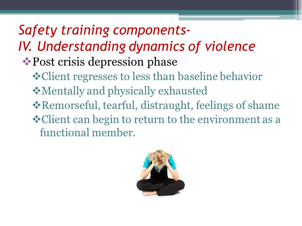 Safety training components- IV. Understanding dynamics of violence