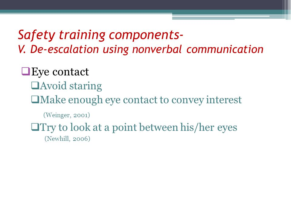 Safety training components- V