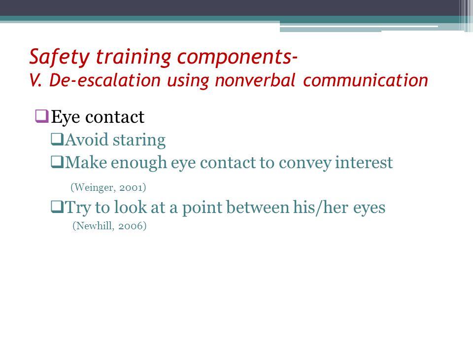 Safety training components- V
