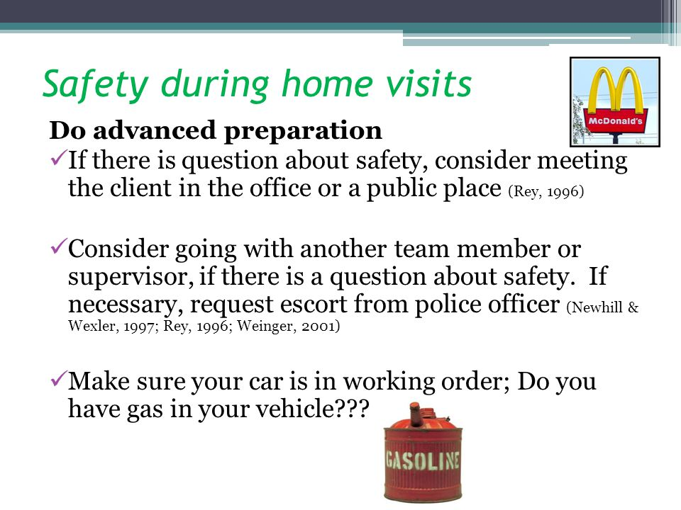 Safety during home visits