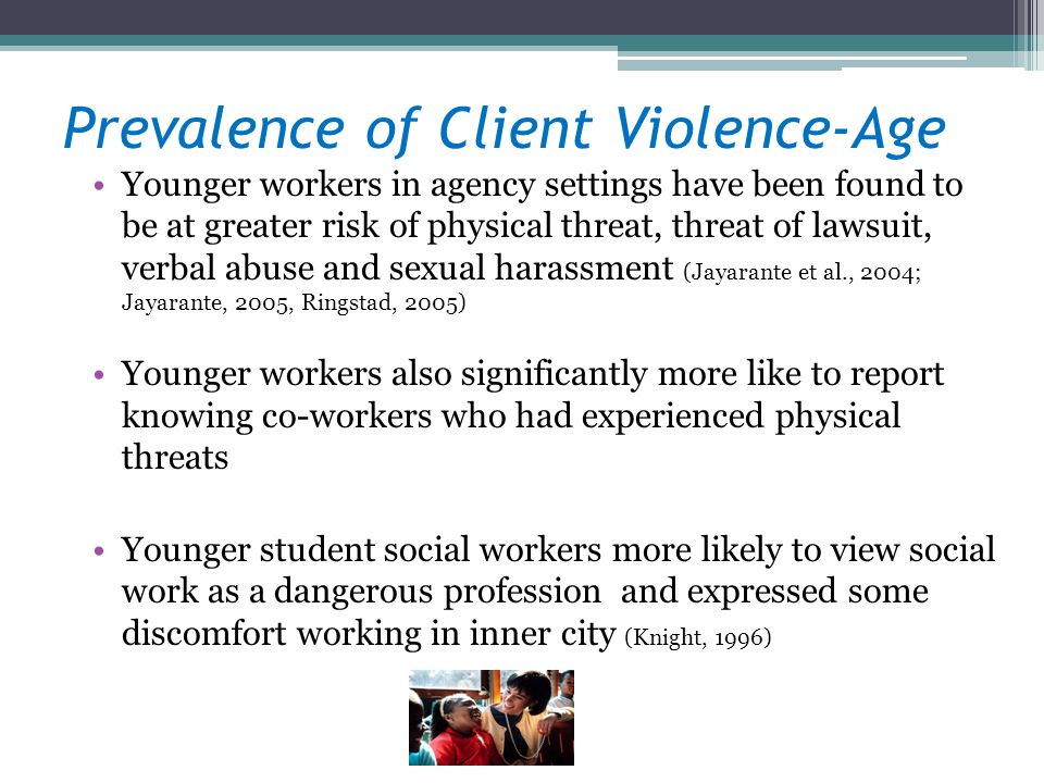 Prevalence of Client Violence-Age
