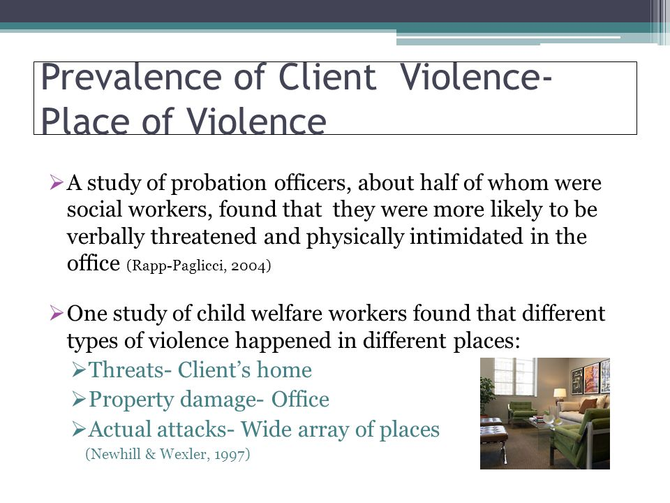 Prevalence of Client Violence-Place of Violence