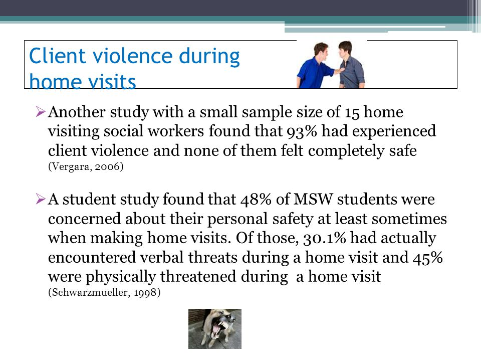 Client violence during home visits