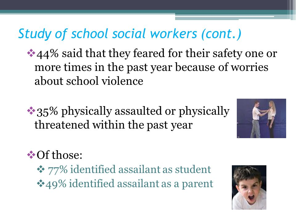 Study of school social workers (cont.)
