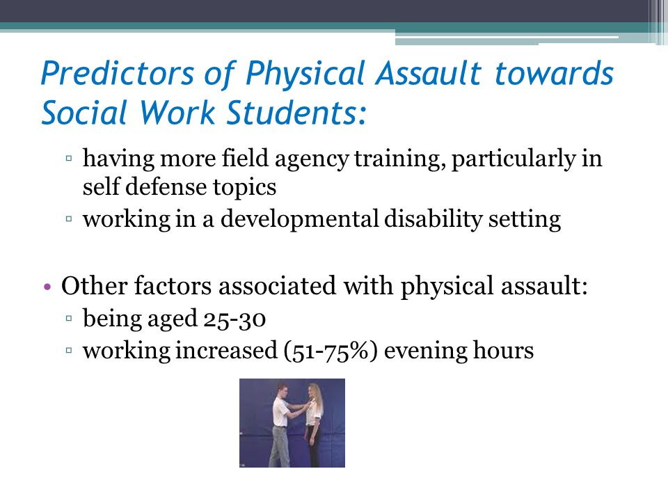 Predictors of Physical Assault towards Social Work Students: