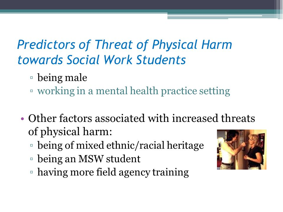 Predictors of Threat of Physical Harm towards Social Work Students