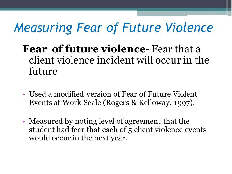 Measuring Fear of Future Violence