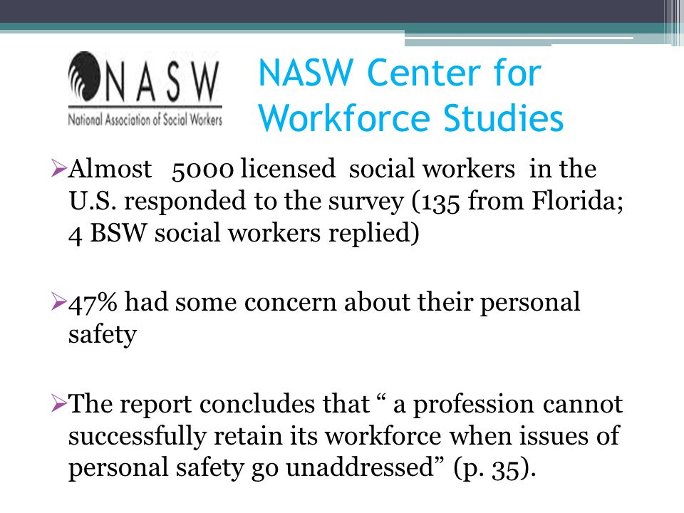 NASW Center for Workforce Studies