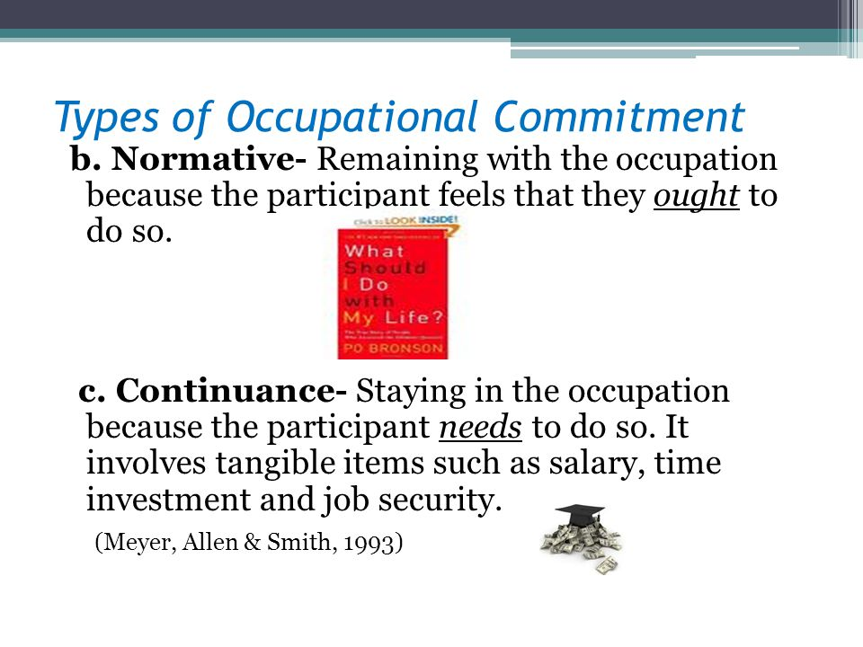 Types of Occupational Commitment