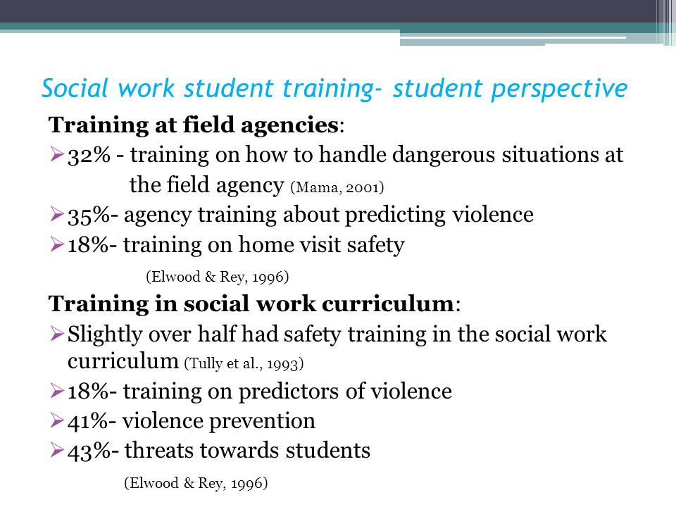 Social work student training- student perspective