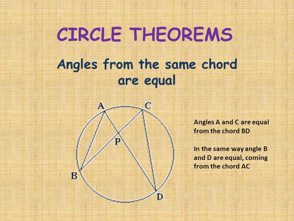 Angles from the same chord are equal