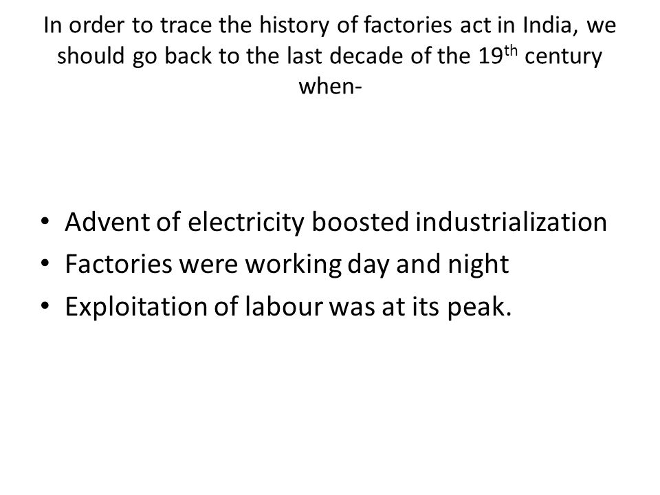 Advent of electricity boosted industrialization