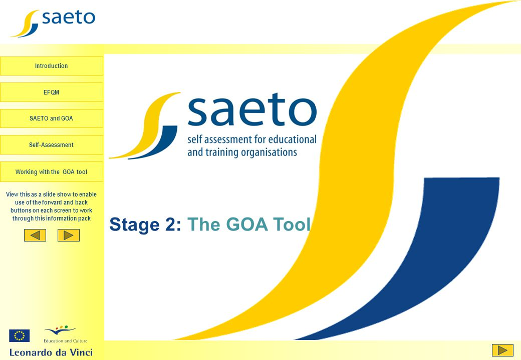 Stage 2: The GOA Tool