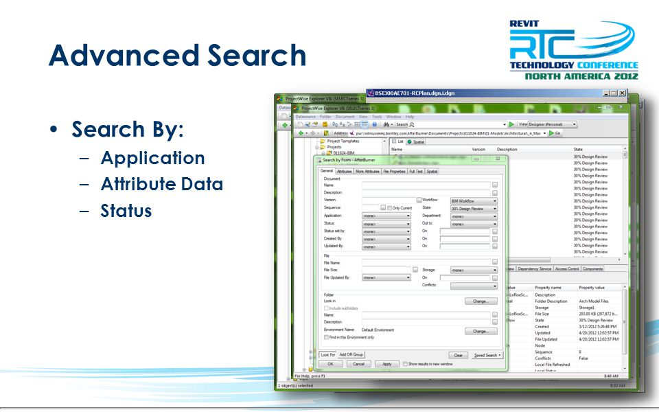 Advanced Search Search By: Application Attribute Data Status