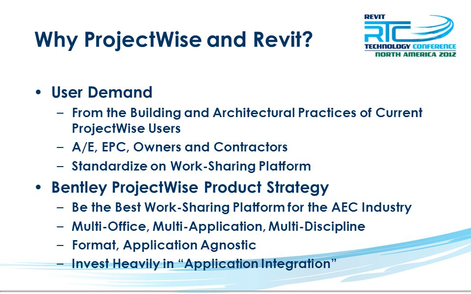 Why ProjectWise and Revit