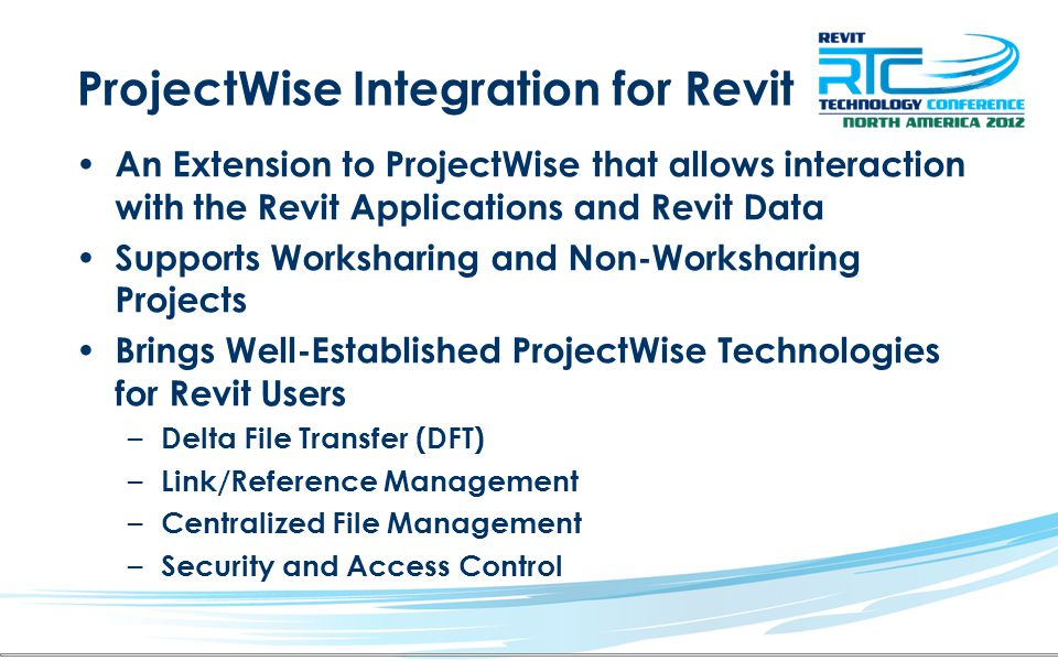 ProjectWise Integration for Revit