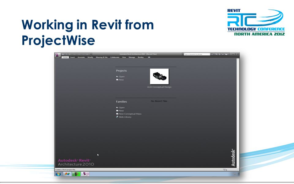 Working in Revit from ProjectWise